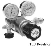 Brass Two-Stage Regulator Model TSD