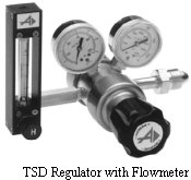 Brass Two-Stage Regulator Model TSD with Flowmeter