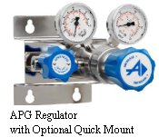 Stainless Steel Two-Stage Regulator Model APG