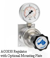 Line Regulator Model AG3830 with Optional Mounting Plate