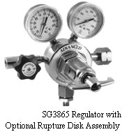 Regulator for Specific Applications Model SG3865 Regulator with Rupture Disk Assembly